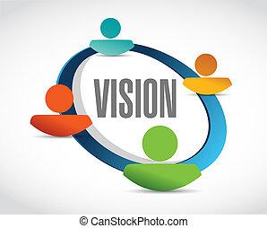 vision people network sign concept illustration design...
