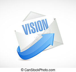 vision email sign concept illustration design graphic