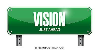 vision road sign concept illustration