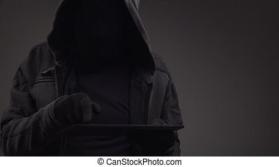 Unrecognizable cyber criminal - Unrecognizable faceless...