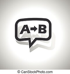 Curved A B message icon - Curved chat bubble with letters A,...