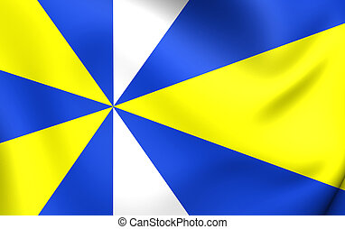 Flag of Koggenland, Netherlands. - 3D Flag of Koggenland,...
