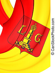 Flag of Liege City, Belgium - 3D Flag of Liege City, Belgium...