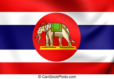 Naval Ensign of Thailand - 3D Naval Ensign of Thailand....