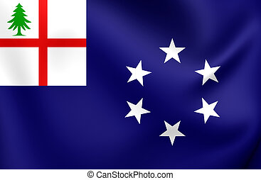 Flag of New England 1988, USA - 3D Flag of New England 1988,...