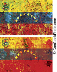 venezuela flag - some very old grunge flag of venezuela