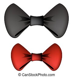 Black And Red Bow Ties