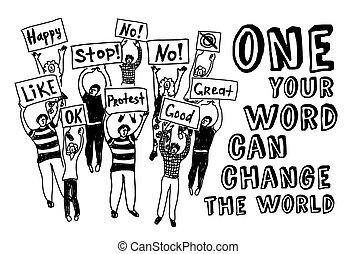 活躍, 投票, 會議, 民主, 人們