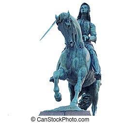 bronze statue of Joan of Arc - Bronze statue of Joan of Arc,...