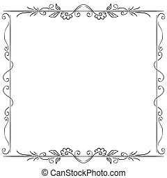 vector frame on white background. Hand drawing