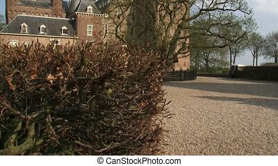 Doorwerth Castle courtyard - tilt up medieval monument -...