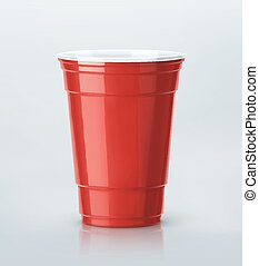 Red Party Cup - Isolated red party cup, eps 10