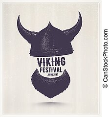 Viking Festival - Viking helmet and beard, Jorvik viking...