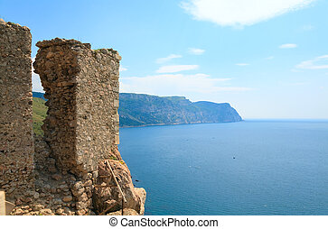 Balaclava Genoese fortress view Crimea, Ukraine - Summer...