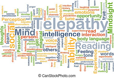 Telepathy background concept - Background concept wordcloud...