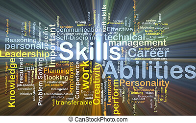 Skills abilities background concept glowing - Background...