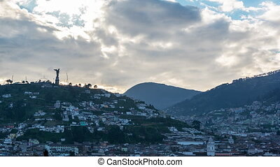 Quito, Ecuador Time Lapse - Time Lapse view of El Panecillo...