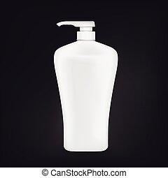 blank shampoo bottle