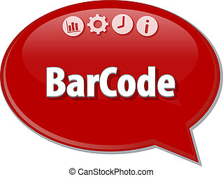 Barcode Bar Code Business term speech bubble illustration -...