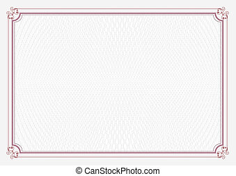 Red A4 size certificate paper - Red border A4 size...