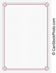 Red A4 size certificate paper - Vertical red border A4 size...