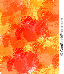 Orange watercolor background - illustration drawing of...