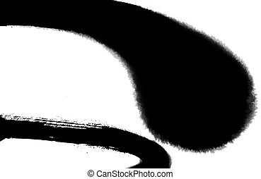 ink background - drawing of beautiful curve with ink in a...