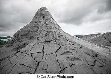 Mud volcanoes - Strange mud vulcanoes in Buzau in Romania