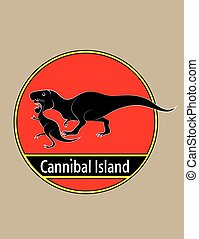 Cannibal island, art vector design