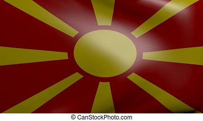 macedonia strong wind flag
