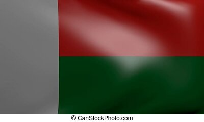 madagascar strong wind flag