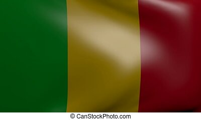 mali strong wind flag