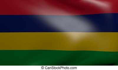 mauritius strong wind flag