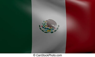 mexico strong wind flag