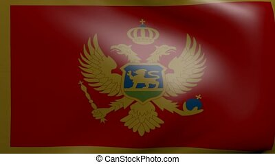 montenegro strong wind flag