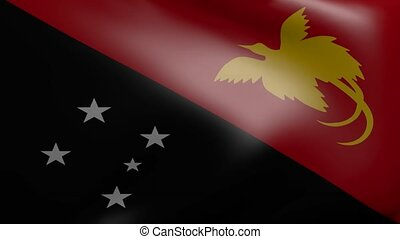 new guinea strong wind flag