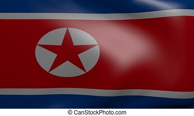 north korea strong wind flag