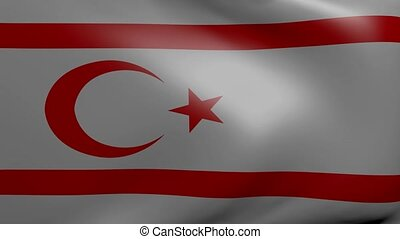 northern cyprus strong wind flag