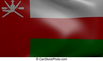 oman strong wind flag