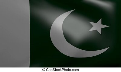 pakistan strong wind flag