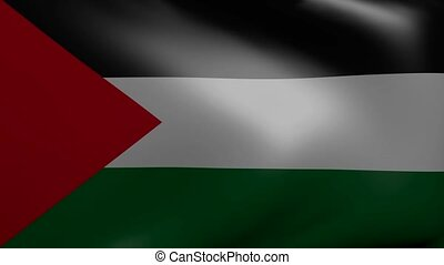 palestine strong wind flag