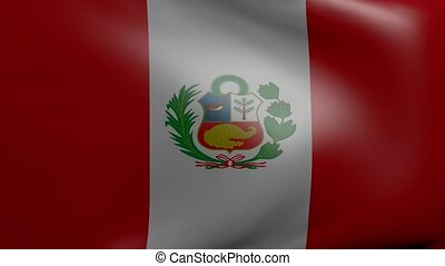 peru strong wind flag