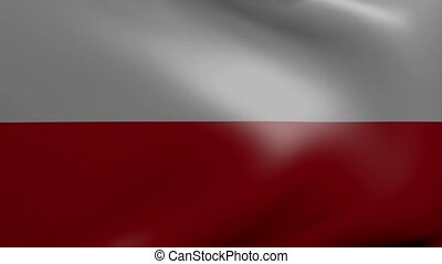 poland strong wind flag