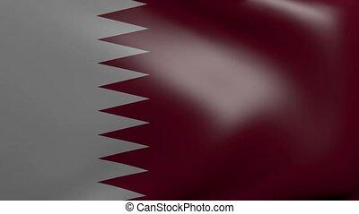 qatar strong wind flag
