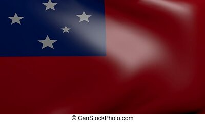 samoa strong wind flag