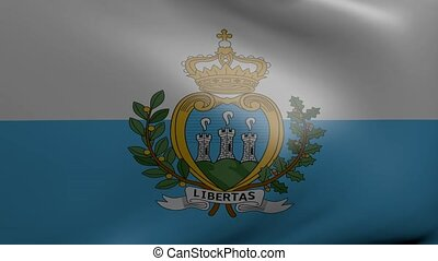 san marino strong wind flag