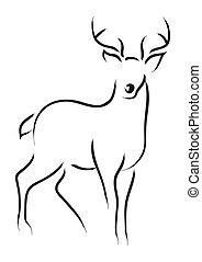 Deer - Simple line art of a deer