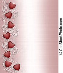 Valentines day Border - Image and illustration composition...