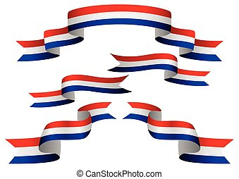 Flag Banner - Set of Netherlands insignia in different shape...