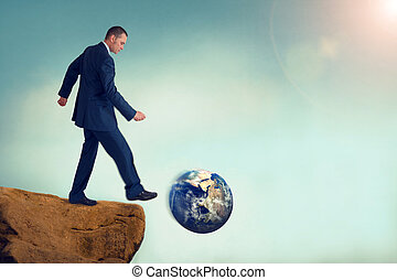 unsustainable business concept global environmental...